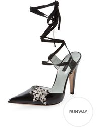Marc By Marc Jacobs - Star Leather Ankle-wrap Pump - Lyst