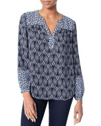NYDJ - Print Mix Peasant Top - Lyst