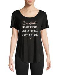 Betsey Johnson - Printed Short-sleeve Top - Lyst