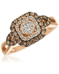 Le Vian - Chocolatier® Chocolate & Vanilla Diamond® Framed Cluster Ring - Lyst