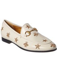 3c8d9194f5d Gucci - Jordaan Embroidered Leather Loafer - Lyst