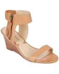 Adrienne Vittadini - Zipped Leather Wedges - Lyst