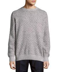 Brunello Cucinelli - Rib-trimmed Graphic Sweatshirt - Lyst