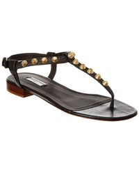 Balenciaga Giant Studded Leather T-strap Sandal