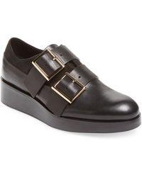 Tibi - Petra Leather Oxford - Lyst