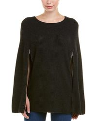 Autumn Cashmere - Ribbed Cashmere & Wool-blend Cape - Lyst