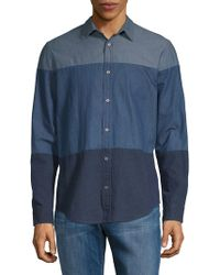 Calvin Klein Jeans - Colorblock Chambray Button-down Shirt - Lyst