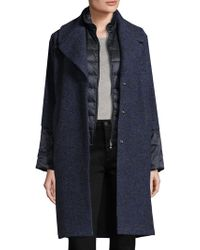 Bogner | Gloria Notch Quilted Coat | Lyst
