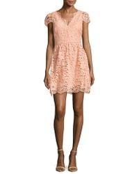 ERIN Erin Fetherston - Alicia Floral Lace Fit & Flare Dress - Lyst