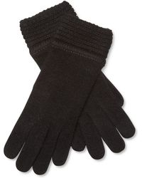 Portolano - Knitted Solid Gloves - Lyst