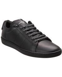 site web pour réduction vente moins chère 2019 meilleurs Court Classic Lips Leather Sneaker - Black