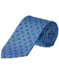 Ermenegildo Zegna - Blue Paisley Silk Tie - Lyst