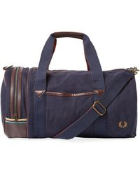 Fred Perry | Canvas Barrel Bag | Lyst