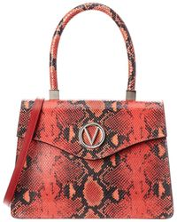 d1e4399e8d1 Valentino By Mario Valentino - Melanie Python-embossed Leather Top Handle  Satchel - Lyst