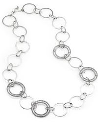 ABS By Allen Schwartz - Oversized Sparkle Chain Necklace - Lyst