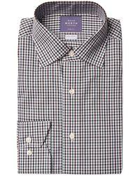Near North - Mini Check Trim Fit Dress Shirt - Lyst