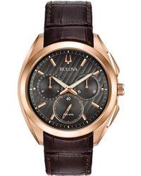 Bulova - Men's Leather Watch - Lyst