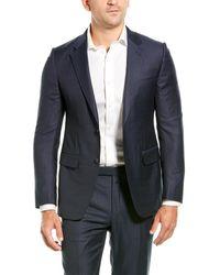 Ermenegildo Zegna - 2pc Wool Suit With Flat Pant - Lyst