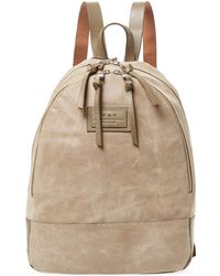 John Varvatos - Suede Perforated Backpack - Lyst
