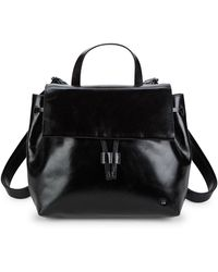Halston - Drawstring Leather Backpack - Lyst