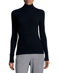 Zac Posen - Solid Turtleneck Cashmere Jumper - Lyst