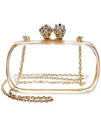 Alexander McQueen - Queen & King Transparent Box Clutch - Lyst