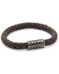 Link Up - Ornament Leather Bracelet - Lyst