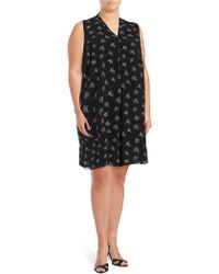 Vince Camuto - Printed Shift Dress - Lyst