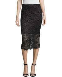 The Letter - Lace Pencil Skirt - Lyst