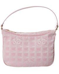 Chanel Pink Travel Line Shoulder Bag