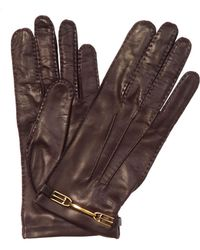 Bally Nappa Leather Gloves - Brown