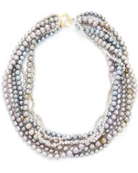 Belpearl - Seven Strand Gray Pearl Necklace - Lyst