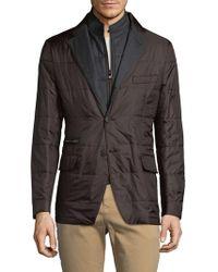 Corneliani | Quilt Shirt Jacket | Lyst