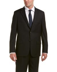 Hickey Freeman - Milburn Ii Wool Suit With Flat Pant - Lyst