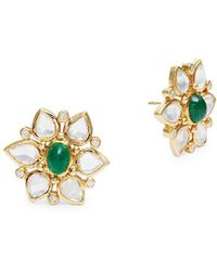 Temple St. Clair - 18k Yellow Gold Ottoman Stud Earrings - Lyst
