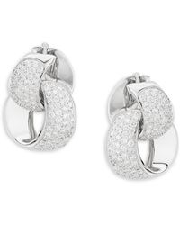 Chimento - Link Infinity Diamond & 18k White Gold Earrings - Lyst