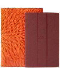 Hermès - Vintage Orange Lizard Notebook - Lyst