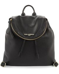 Karl Lagerfeld - Leather Backpack - Lyst