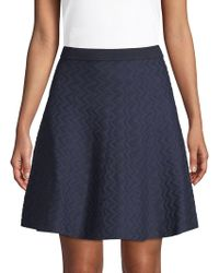 Saks Fifth Avenue - Chevron Flared Skirt - Lyst