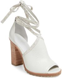 Frye - Suzie Pickstitch Lug Leather Sandal - Lyst