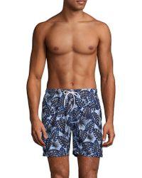 Trunks Surf & Swim - Airbrushed Leaves Swim Shorts - Lyst