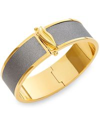 Diane von Furstenberg - Holiday Colour Two-tone Leather Bangle Bracelet - Lyst