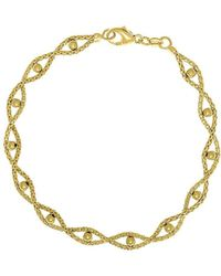 Saks Fifth Avenue - 14k Yellow Gold Textured Beaded Bracelet - Lyst