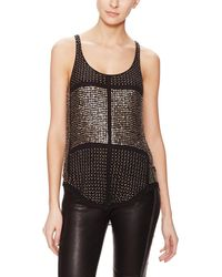 Isabel Marant Peachy Silk Brass Embellished Top