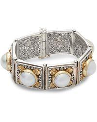 Konstantino - Aphrodite Freshwater Pearl, 18k Yellow Gold & Sterling Silver Slide Bracelet - Lyst