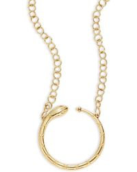 Temple St. Clair - Tree Of Life Diamond & 18k Yellow Gold Ourobouros Serpent Necklace - Lyst