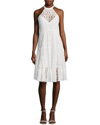 Tracy Reese - Lace Halter Flared Dress - Lyst
