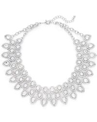 Cara Couture Jewelry - Teardrop Crystal Bib Necklace - Lyst