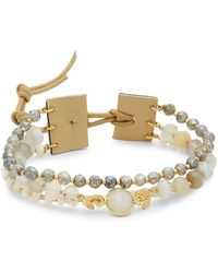 Chan Luu - Multicolored Beads & Sterling Silver Toggle Bracelet - Lyst