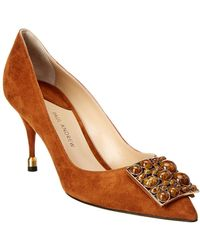 Paul Andrew - Moser 75 Suede Pump - Lyst